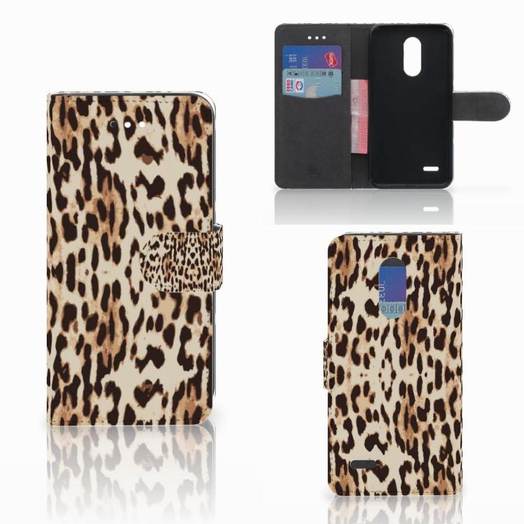 LG K11 Telefoonhoesje met Pasjes Leopard