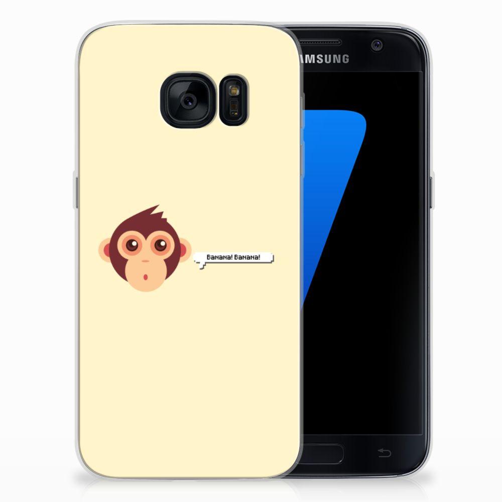 Samsung Galaxy S7 Telefoonhoesje met Naam Monkey