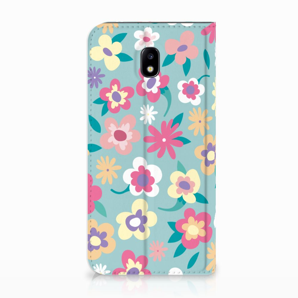 Samsung Galaxy J5 2017 Standcase Hoesje Design Flower Power