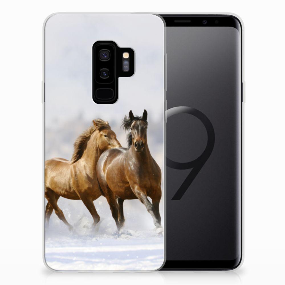 Samsung Galaxy S9 Plus TPU Hoesje Paarden