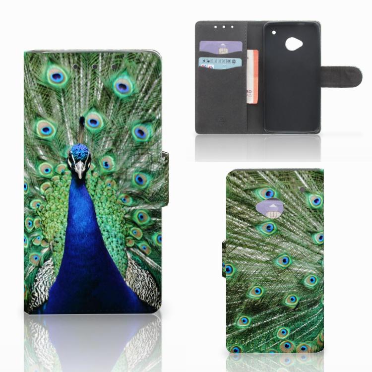 HTC One M7 Telefoonhoesje met Pasjes Pauw