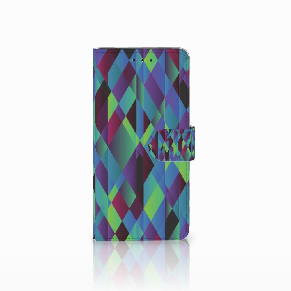 Motorola Moto E5 Plus Bookcase Abstract Green Blue