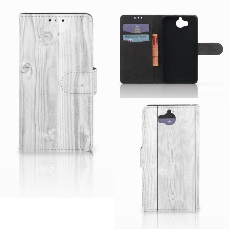 Huawei Y5 | Y6 2017 Book Style Case White Wood