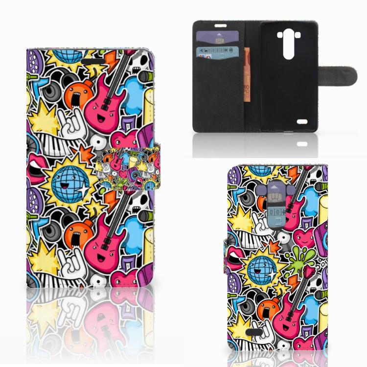 LG G3 Wallet Case met Pasjes Punk Rock