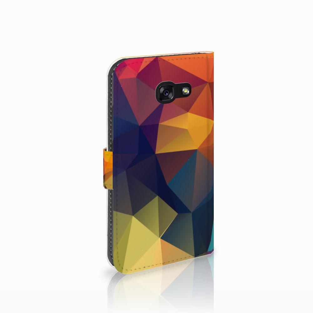 Samsung Galaxy A5 2017 Boekhoesje Design Polygon Color