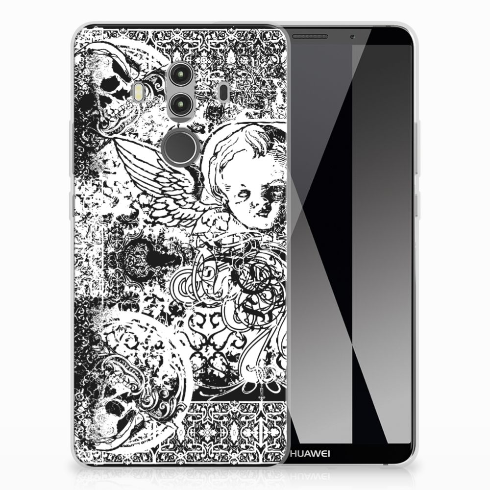 Silicone Back Case Huawei Mate 10 Pro Skulls Angel