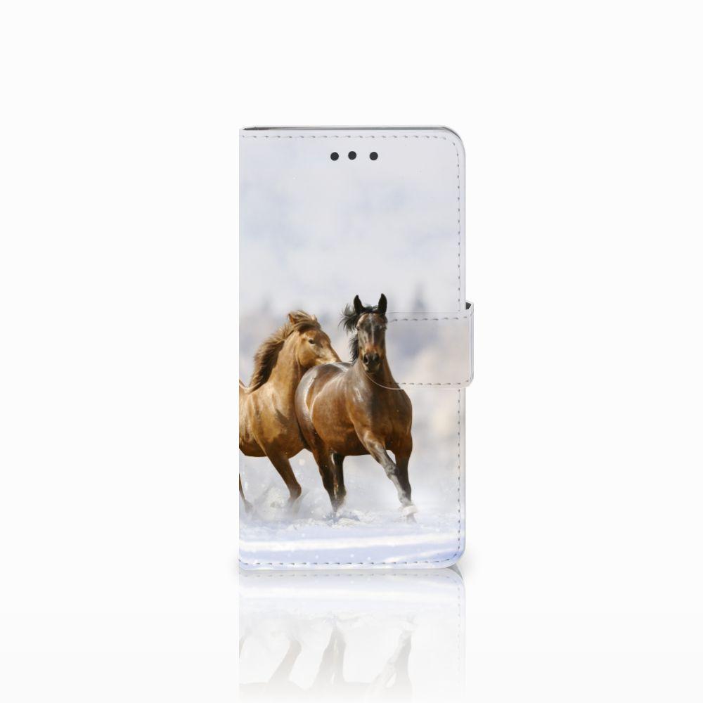 HTC U Play Uniek Boekhoesje Paarden