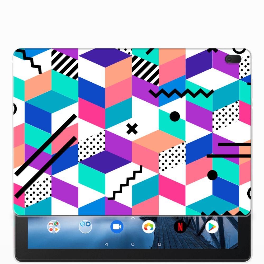 Lenovo Tab E10 Back Cover Blokken Kleurrijk