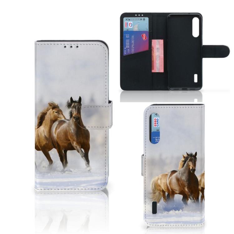 Xiaomi Mi A3 Telefoonhoesje met Pasjes Paarden