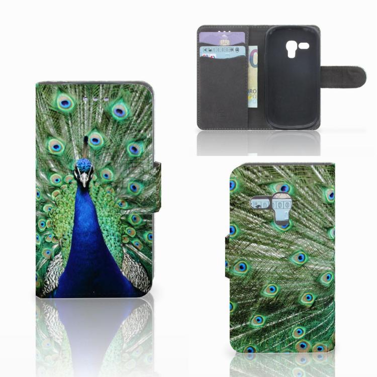 Samsung Galaxy S3 Mini Telefoonhoesje met Pasjes Pauw