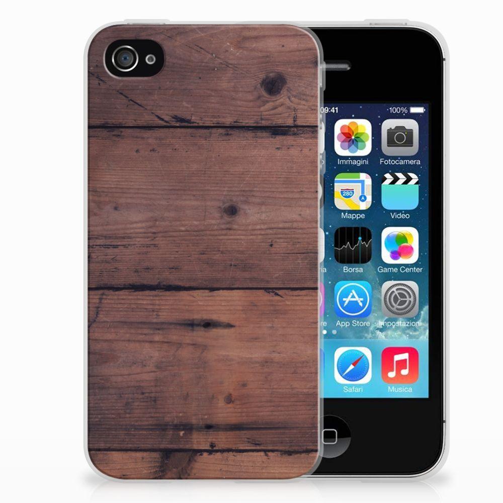 Apple iPhone 4   4s Bumper Hoesje Old Wood