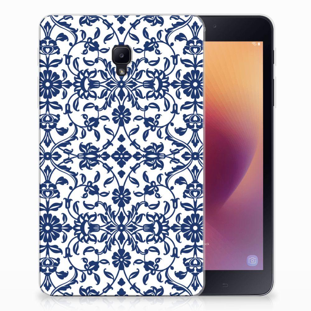Samsung Galaxy Tab A 8.0 (2017) Tablethoesje Flower Blue